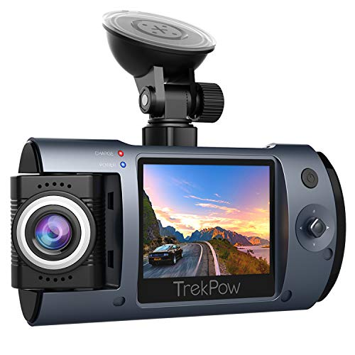 Dash Cam, Trekpow T1 HD 1080P Car DVR Dashboard Camera with 180°Rotation Len, 2' LCD, 170°Wide Len, Night Vision, G-Sensor Lock, Loop Recording, Motion Detection, Parking Mode
