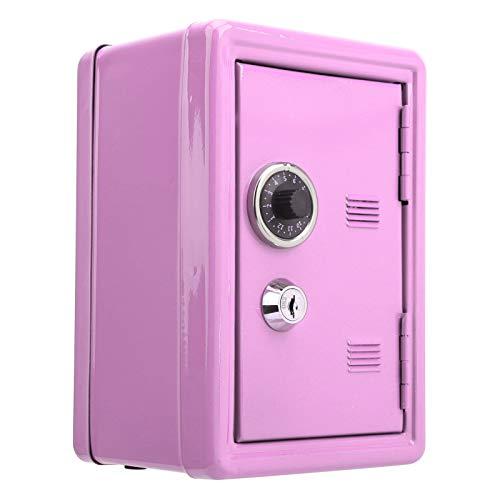 FOLOSAFENAR Caja de Dinero para niños Mini Caja de Dinero Caja de Almacenamiento de Cambio extraíble Hecha de bisagra de Hierro está Bien Hecha y es Duradera para niños y Adultos(Pink)