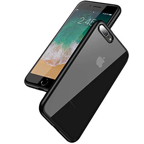 LAYJOY Funda para iPhone 7 Plus, Funda para iPhone 8 Plus, Carcasa Ligera Bumper Silicona Suave Negro TPU y Transparente Duro PC Case Anti-Golpes Cover para iPhone 7 Plus/ 8 Plus - 5.5 Pulgadas