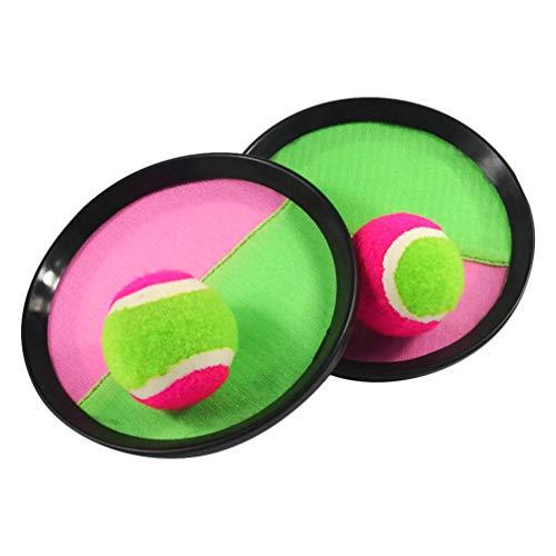 NUOBESTY 1Set Werfen Und Fangen Ball Set Ziel Klebrigen Ball Tennisschläger Und Ball Stick Paddel Spiel für Kinder Eltern Kind