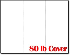 3up 80lb White Menu Cards/Connection Cards/Rack Cards (25 Sheets / 75 Pieces)