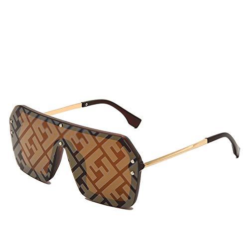 De Gran Tamaño Sombras Mujeres/Hombres Gafas De Sol De Moda Cuadrados Gafas De Gran Marco Retro Gafas De Deporte De Pesca Gafas Negro__Dorado