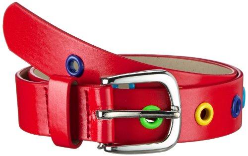 Playshoes - Ceinture Mixte - Stylischer Kindergürtel mit bunten Ösen - Rouge (rot) - FR : 55 (Taille fabricant : 55)