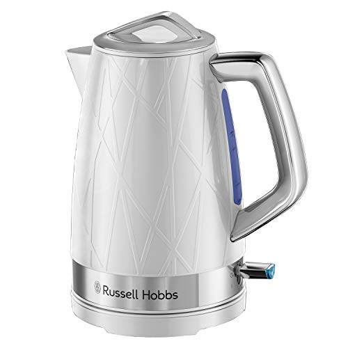 Russell Hobbs 28080 Structure Electric Kettle - Contemporary Design Cordless Kettle with Fast Boil and Boil Dry Protection, 1.7 Litre, 3000 W, White