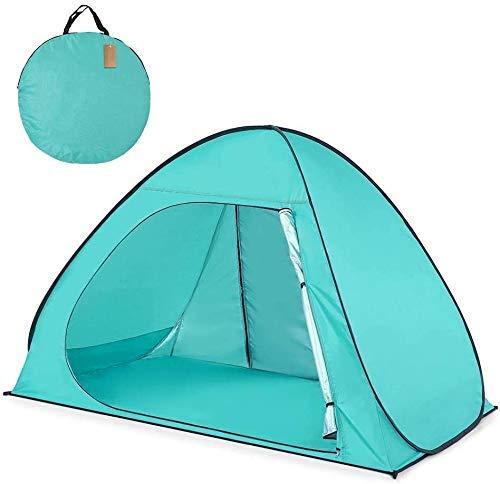 NLRHH Pop Up Camping Beach Tienda al Aire Libre Automatic Pop Up Playa Tienda Portátil Ligera Ligera Anti-UV Tienda Easy Up Beach Sun Shelters Tienda for Picnic Familia, Playa Peng