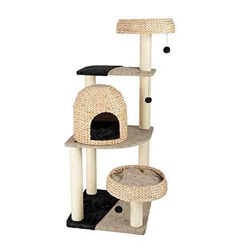 ZWJ-Katzenbaum Cat Klettergerüst Katzentoilette Kratzbaum Große Integrierte Katze Regal Springen Plattform Multifunktionale Bequeme Katzentoilette Einfach Große Kugel Katzenspielzeug