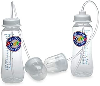 Podee Hands Free Baby Bottle – Anti-Colic Feeding System 9 oz (2 Pack – Classic)