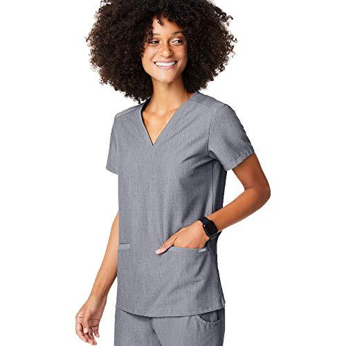 FIGS Casma Three-Pocket Scrub Top for Women – Graphite, M