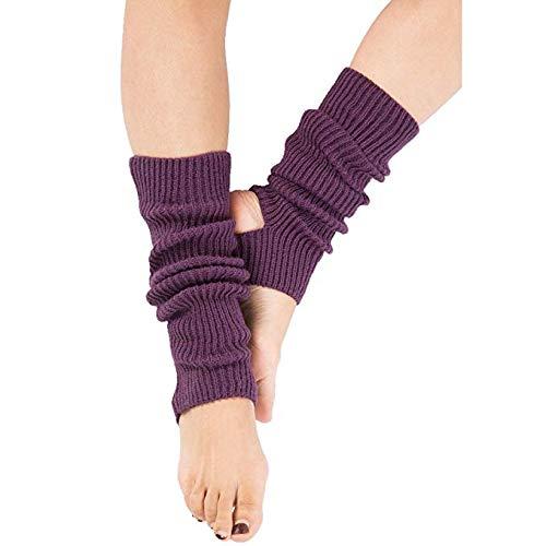 Zomiee Yoga Calzini per Allenamento da Donna o Ragazza Calzini Toeless Allenamento Danza Scaldamuscoli, Purple