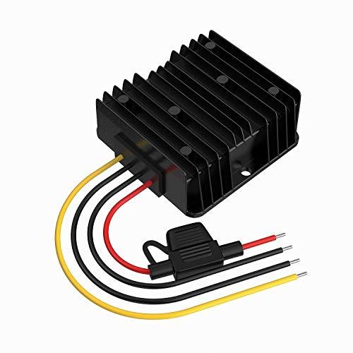 Stromwandler 24V auf 12V, 24V auf 12V Spannungswandler 30A 360W mit Sicherung Wasserdicht, Wechselrichter 24V auf 12V für Golfwagen LED Light Motor Truck Fahrzeug Solar System (DC15-40V Breit Eingang)
