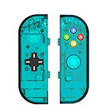 DIY Replacement Joycon Handheld Controller Housing Shell Case for Nintendo Switch NS NX Right Left Joy-Con Controller Without Electronics (Joycon Handheld Controller, D-Pad ice Blue)