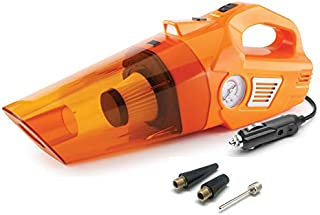 myTVS 3-in-1 Powerful Car Vacuum Cleaner Cum Tyre Inflator Portable Air Pump Compressor and Torch with 2 Years Warranty