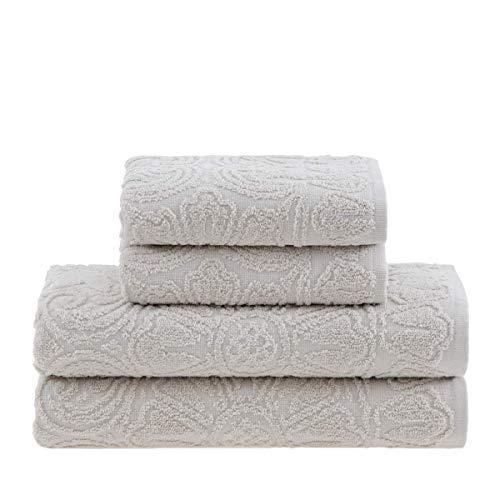 Jogo de toalhas Buddemeyer, Florentina, Banho, Azul, 5 peças Buddemeyer Florentina Azul Jogo Banho Algodão