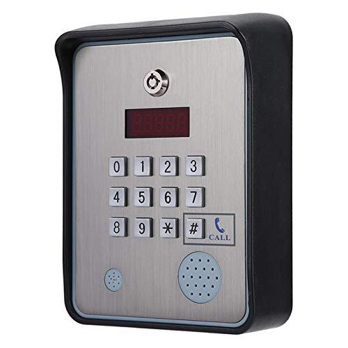 Jingyig Intercomunicador de Audio Resistente de Voz bidireccional con Salida de relé Doble, Acceso gsm, para Uso doméstico fácil de Instalar