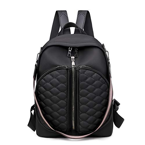 CMZ Backpack Ladies Fashion All-Match Retro Solid Color Backpack Multi-Function Large Capacity Leisure Student Bag Shoulder Bag