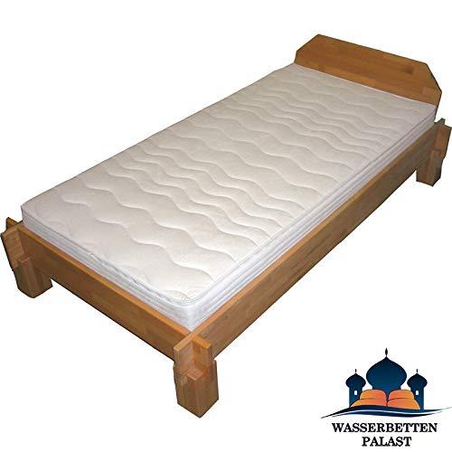 Moonlight Wellness Wasserbett Wasserbettmatratze für Lattenrost - Bezug Medicott, 50% beruhigt, Größe 100x200cm