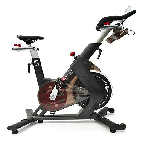 AsVIVA Indoorcycle Speedbike, S15 Bluetooth, Fitness-Bike (inkl. SPD Klicksystem), 27kg Schwungmasse, Pulsempfänger (inkl. Brustgurt), leiser Riemenantrieb, Indoor Cycle, schwarz
