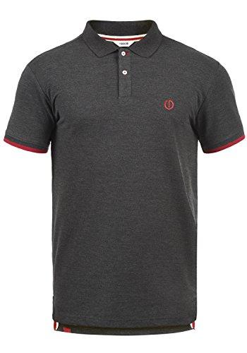 !Solid BenjaminPolo Herren Poloshirt Polohemd T-Shirt Shirt Mit Polokragen, Größe:S, Farbe:Med Grey M (8254)