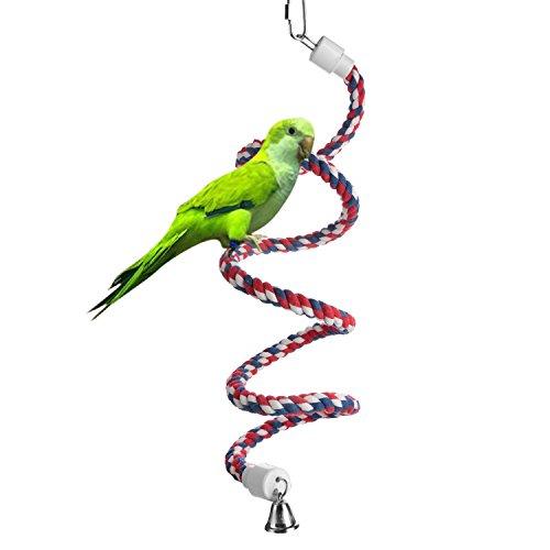 Aigou Bird Spiral Rope Perch