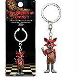 Five Nights On Freddy's Keychain Action Character PVC FNAF Freddie Bonnie Keychain Ring Children's Halloween 5cm Set