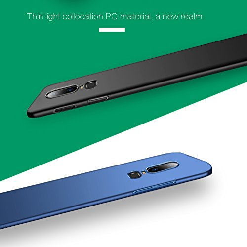 PELOSI for OnePlus 6 Case Extremely Light Ultra Thin Super Slim Hard PC Case for OnePlus 6 (Silky Black) Kentucky