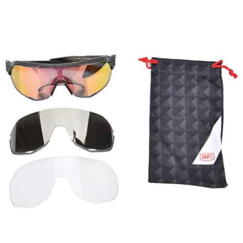 DALIAN Transparente Gris Rojo Al Aire Libre Ciclismo Anti-Ultravioleta Protección Ocular Gafas De Moda