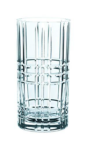 Spiegelau & Nachtmann, 4-teiliges Longdrink-Set, Kristallglas, 445 ml, Square, 101049