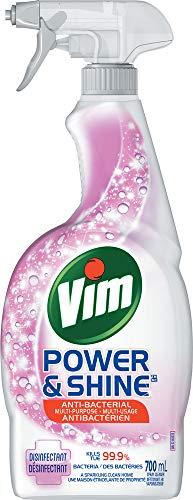 Vim Power & Shine Anti-Bacterial Spray For Sinks, Stoves, Fridges, Tabletops, Toilets Multi-Purpose Kills 99.99% of Viruses & Bacteria 700...