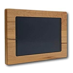 NobleFrames Holz Wandhalter für Samsung Galaxy Tab A 10.1 T510 / T515 (2019) aus Kernbuche | Wohnzimmer | Küche | Büro