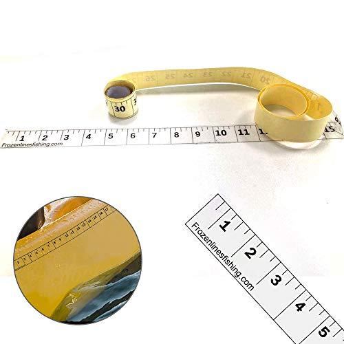 Frozen Lines Transparent Adhesive Fish Measuring Tape Sticker II...