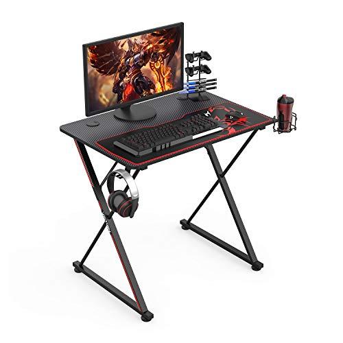 UMI.by Amazon X31 Escritorio para juegos Mesa de computadora para juegos pequeña Escritorio para PC con mousepad 80 * 60cm Negro