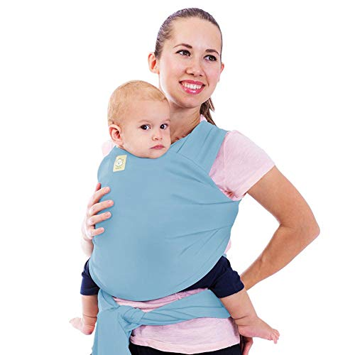 Tragetuch Alles-in-einem - Dehnbare Baby-Tragetücher - Babytrage - Kleinkindtrage - Baby-Tragetuch - Handfrei Babytragetücher – Babyparty-Geschenk - Einheitsgröße (Baby Blau)