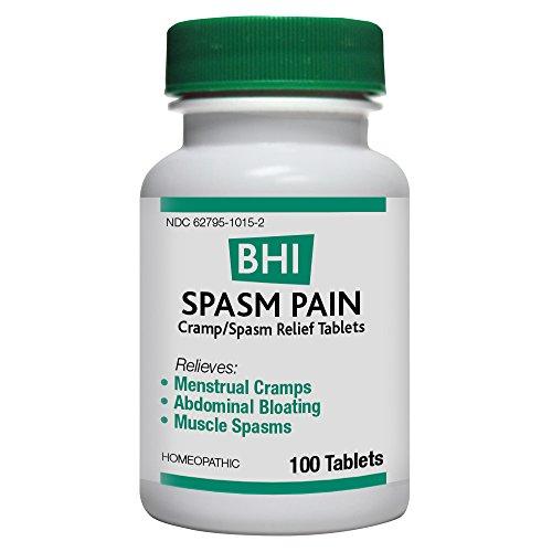 BHI Spasm Pain Cramp/Spasm Natural, Safe Homeopathic Relief - 100 Tablets