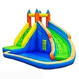WJSW Hüpfburgen Kinderaufblasbares Schloss Kleine Haushaltskinderrutsche Kinderspielplatz Aufblasbares Trampolin Outdoor Toy Rock