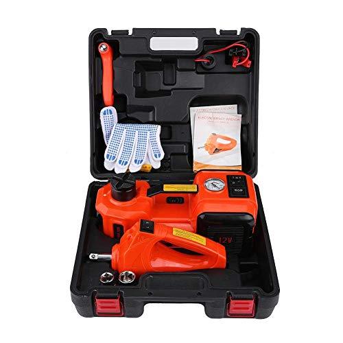 Gato hidráulico de piso de alta resistencia de 5 toneladas, 12 V CC, para automóvil, eléctrico, para camioneta, kit de herramientas de reparación de automóvil portátil, juego de herramientas de llave