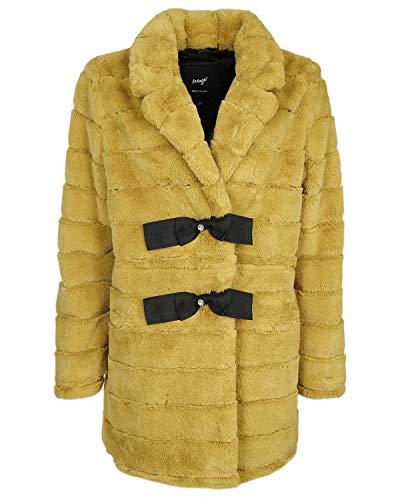 Maze Damen Stylischer Fake Fur Mantel Mit Schleifen Mennifee Sun XL