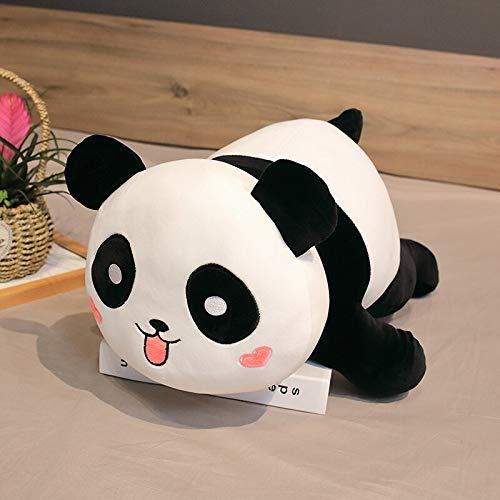 AYQX Almohada de Panda de Dibujos Animados de Gran tamaño, cojín súper Suave, Juguete de Felpa, corazón de Animal Gordo niños, cumpleaños, 85 cm 2