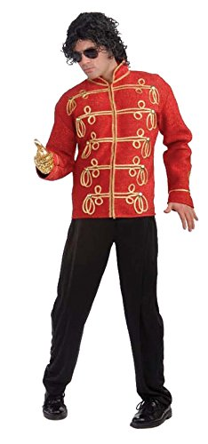 Deluxe Michael Jackson Red Jacket Adult Costume
