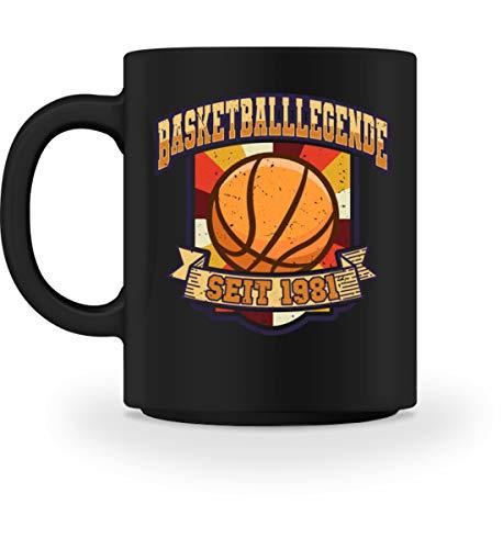 40. Geburtstag Basketballer Tasse   Basketballlegende 1981 Kaffeetasse