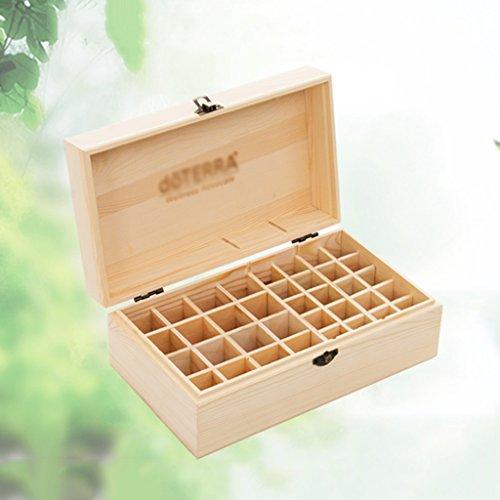 Boîte de stockage d'huile de bois solide 36 bouteilles de boîte de rangement de cosmétiques 5 ml-15 ml boîte d'affichage d'emballage de bouteille d'huile ( Size : 27.5*15.5*10cm )
