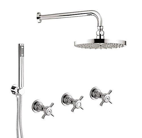 Ensemble de douche encastré avec inverseur 2 voies G5, pommeau de douche laiton, Kit Duplex à encastrer