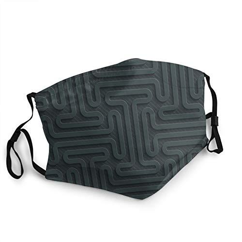 CAP PILLOW HOME Mascarilla de tela lavable Doubletiron oscuro reutilizable y ajustable contra el polvo de tela protectora