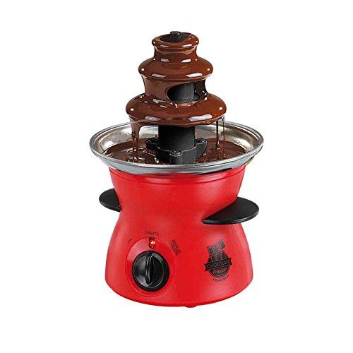 Chocoladefontein, chocoladefontein, met draaiende fontein, 300 ml, (chocoladefontein, elektrisch, temperatuurregeling, rood)