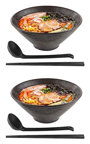 Tikusan ラーメン スープボウルセット 56オンス うどん そば フーアジア麺 和風セラミックボウル