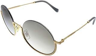 Miu Miu MU 69US 7OE5O0 Gold Metal Round Sunglasses SIlver Mirror Lens