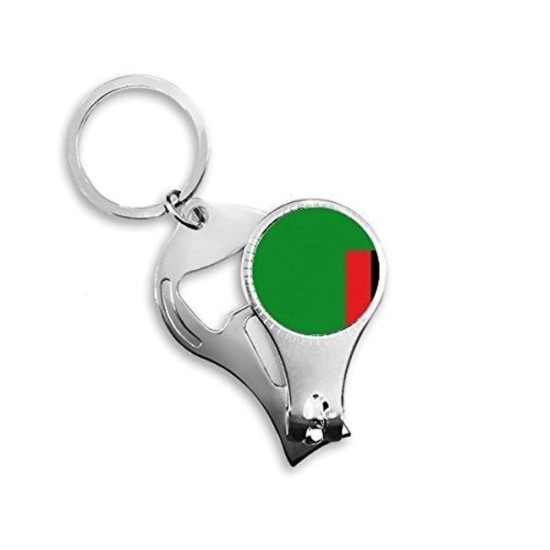 優雅豊富主流PINGFUFF HOME ザンビア国旗アフリカ国シンボルマークパターンメタルキーチェーンリング多機能ネイルクリッパー栓抜き車のキーチェーン最高のチャームギフト