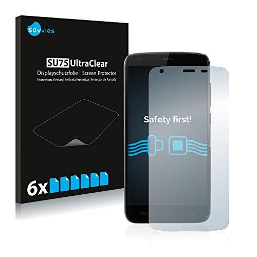 Savvies 6X Schutzfolie kompatibel mit Doogee T6 Pro Bildschirmschutz-Folie Ultra-transparent