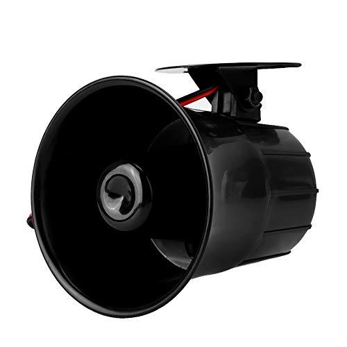 Cuifati Alarm Sirenenhorn, DC 12V kabelgebundener Alarmlautsprecher, mehr als 110 dB Haussicherungssystem, für Gasleck-Rauchmelder
