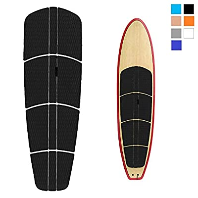 Abahub 12 Piece Surf SUP Deck Traction Pad Premium EVA with Tail Kicker 3M Adhesive for Paddleboard Longboard Surfboard Black