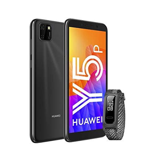 HUAWEI Y5P - Smartphone con Pantalla de 5.45', 32 GB ROM, 2GB RAM, Dual SIM, Cámara de 8MP+5MP, Color Negro + Band 4e Grey